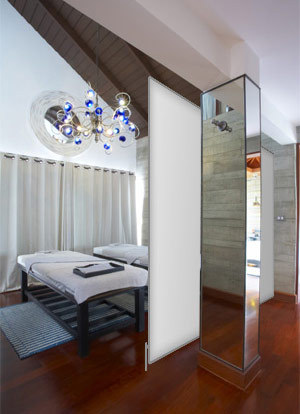massager ume einrichten mit mobilen trennw nden bzw. Black Bedroom Furniture Sets. Home Design Ideas
