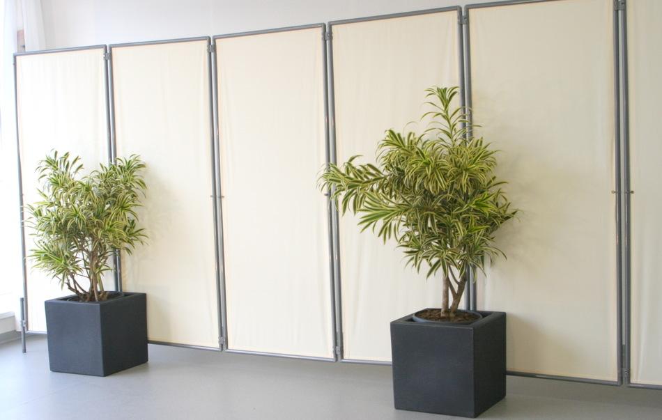 Zubehör: Pflanzgefäß mit 2x Wand-Clip stabilisiert Sichtschutz Paravent