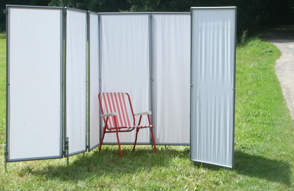 peddy sichtschutz paravent als mobile umkleide bei sportveranstaltungen und als werbetr ger. Black Bedroom Furniture Sets. Home Design Ideas