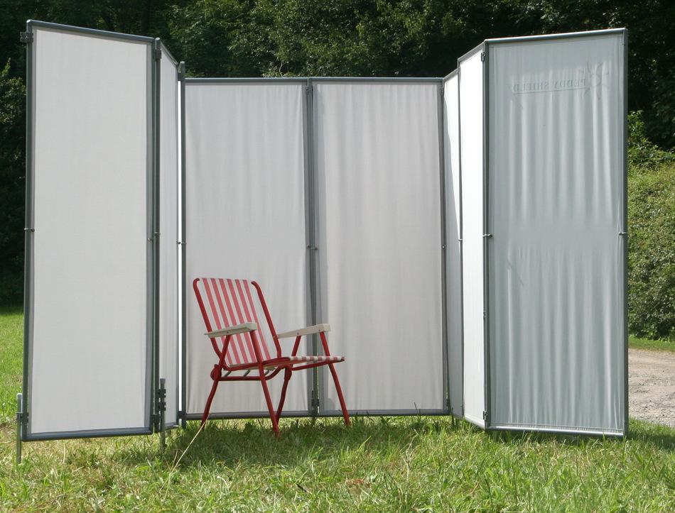 mobile umkleiden aus sichtschutz paravents f r. Black Bedroom Furniture Sets. Home Design Ideas