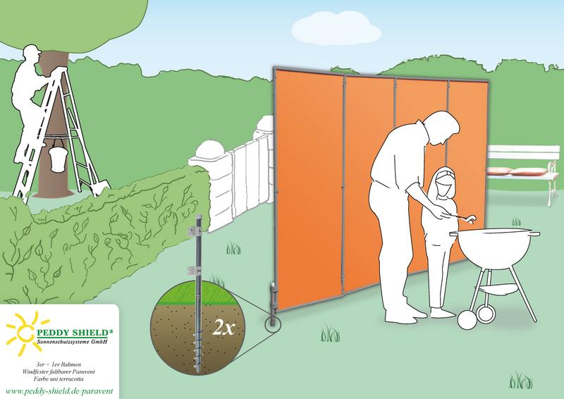 terrasse mobiler windschutz sichtschutz | graffic, Hause und Garten